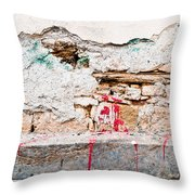 Damaged Wall Throw Pillow