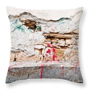 Damaged Wall Throw Pillow