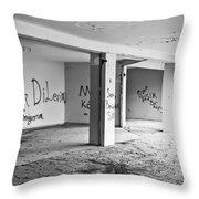 Derelict Building Throw Pillow