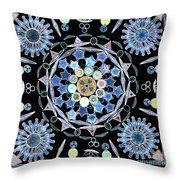 Diatoms Throw Pillow by M I Walker