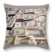 Dollar Throw Pillow
