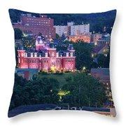 Downtown Morgantown And West Virginia University Throw Pillow