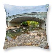 Downtown Of Greenville South Carolina Around Falls Park Throw Pillow