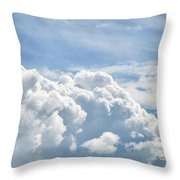 Dramatic Cumulus Clouds With High Level Cirrocumulus Clouds For  Throw Pillow