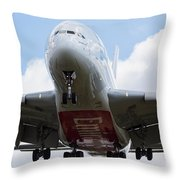 Emirates Airbus A380 Throw Pillow