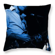 #6 Enhanced In Blue Throw Pillow