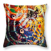 6 Eyes In The Wind Throw Pillow