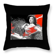 Film Homage Jane Russell The Outlaw 1943 Publicity Photo Photographer George Hurrell 2012 Throw Pillow