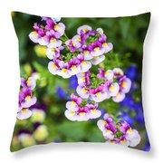 Flowering Garden.  Throw Pillow