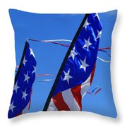 Patriotic Flying Kite Throw Pillow