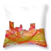 Fort Wayne Indiana Skyline Throw Pillow