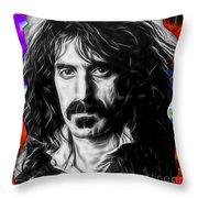 Frank Zappa Collection Throw Pillow