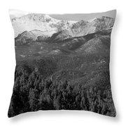 Fresh Snow On Pikes Peak Throw Pillow