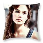 Gal Gadot Art Throw Pillow