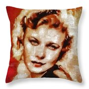 Ginger Rogers Hollywood Actress And Dancer Throw Pillow