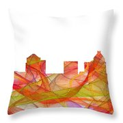 Greensboro North Carolina Skyline Throw Pillow