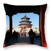 Hall For Prayer Of Good Harvest, Temple Of Heaven, Beijing, China Throw Pillow