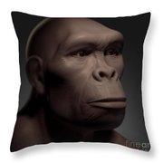 Homo Habilis Throw Pillow