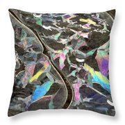 6. Ice Prismatics, Slaley Woods Throw Pillow