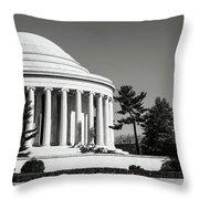 Jefferson Memorial In Washington Dc Throw Pillow