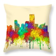 Jersey City New Jersey Skyline Throw Pillow