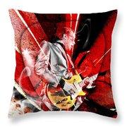 Joe Bonamassa Blues Guitarist Art. Throw Pillow