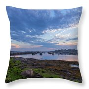 Jonesport, Maine Throw Pillow