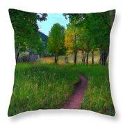 Landscape Wall Throw Pillow