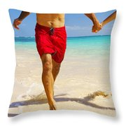 Lanikai Beach Throw Pillow