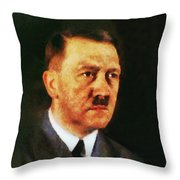 Leaders Of Wwii, Adolf Hitler Throw Pillow