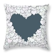 Love Heart Valentine Shape Throw Pillow