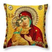 Madonna And Child Christian Art Throw Pillow