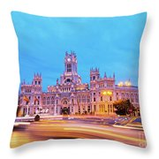 Madrid, Spain Throw Pillow