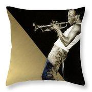 Miles Davis Collection Throw Pillow