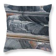 Mining Excavator On The Bottom Surface Mine.  Throw Pillow