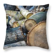 Morning Wood Throw Pillow