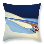 Morris Minor 1000 Hood Ornament Throw Pillow
