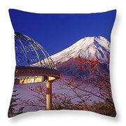 Mount Fuji In Autumn Throw Pillow