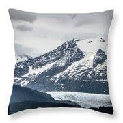 Mountain Range Scenes In June Around Juneau Alaska Throw Pillow