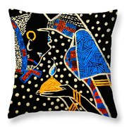 Murle South Sudanese Wise Virgin Throw Pillow