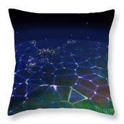 Network Planet Throw Pillow