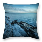 Newport Bridge Connecting Newport And Jamestown At Sunrise Throw Pillow