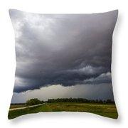 Non Severe Nebraska Thunderstorms Throw Pillow