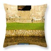 Nunney Castle Throw Pillow