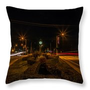 6 O'clock Traffic Throw Pillow