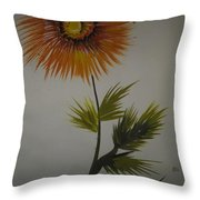 One Stroke Painting Throw Pillow