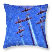 Painting Of Iskra Polish Air Force Team Throw Pillow