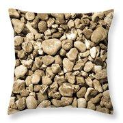 Pebbles 4 Throw Pillow