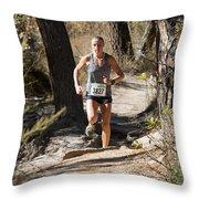 Pikes Peak Road Runners Fall Series IIi Race Throw Pillow