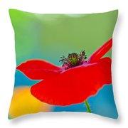 Poppy Throw Pillow by Silke Magino